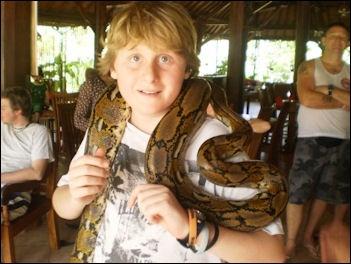 Burmese Python Eats Child
