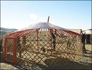 Ger Interiors & STEPPE HORSEMAN TENTS FOOD AND DRINK | Facts and Details