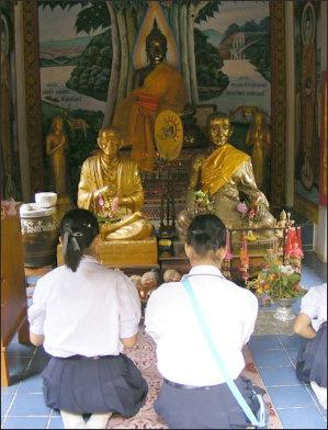 THERAVADA BUDDHIST TEMPLES, ARCHITECTURE AND TEMPLE RITUALS