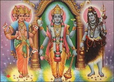 270493e0febb7 Hindu Trinity (from left to right); Brahma, Vishnu, Shiva