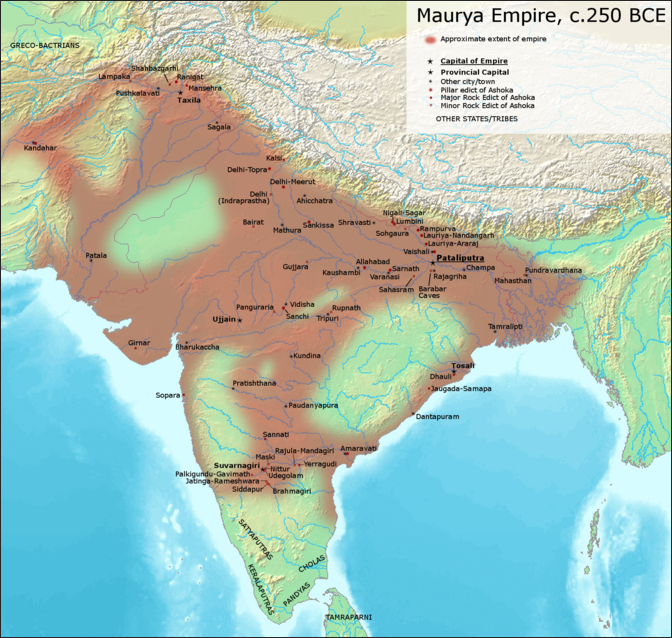 EMPORER ASHOKA, THE MAURYA EMPIRE AND THE SPREAD OF BUDDHISM IN