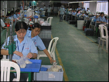 c9e9aaeab1764f 20080315-Disneyfactory3 China Labor Watch77.jpg. Workers at a Disney factory  ...