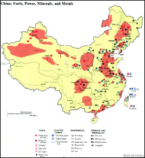 NATURAL RESOURCES IN CHINA Facts And Details - Us iron ore deposits map