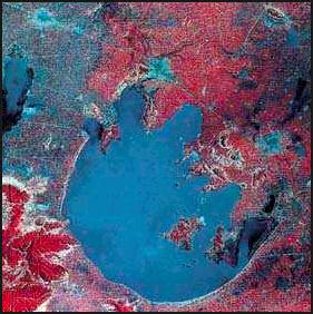 Lake tai algae blooms