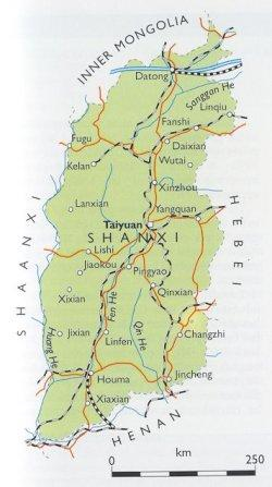 Shanxi China Map.Shanxi Province Datong Yungang Grottoes Pingyao Facts And Details