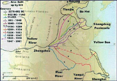 YELLOW RIVER Facts And Details - Huang river world map