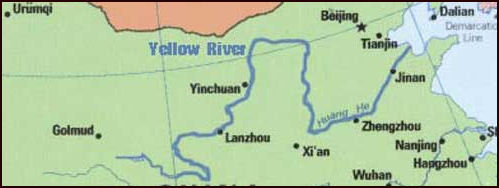Map Of China Yellow River.Yellow River Facts And Details