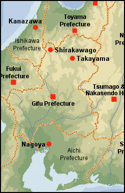NAGOYA GIFU TAKAYAMA AREA Facts And Details - Japan map gifu