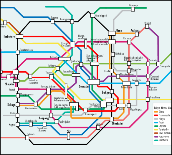 Tokyo Subway Map Art.Tourism Hotels And Transport In Tokyo Facts And Details