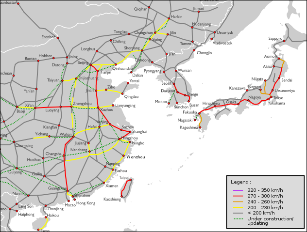 HIGHSPEED TRAINS IN CHINA NEW LINES MAGLEVS AND THE BEIJING - Japan map bullet train