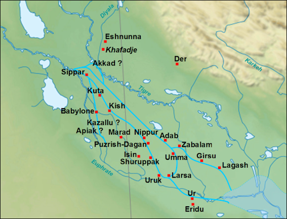 GEOGRAPHY LAND AND WEATHER MESOPOTAMIA Facts And Details - Tigris and euphrates river map