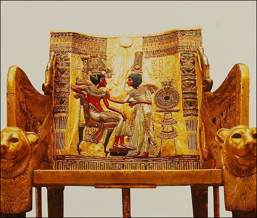 king tutankhamun king tut ruled from to b c facts  20120211 tutanchamun thrine jpg king tut s throne