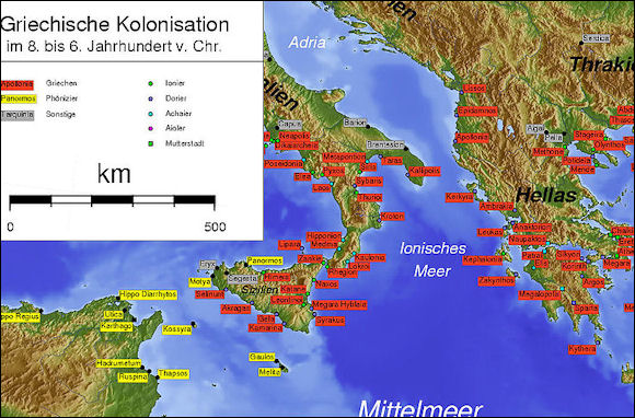POWERFUL CITY STATES AND ANCIENT GREEK CLASSICAL AGE BC TO - Greek colonization archaic period map