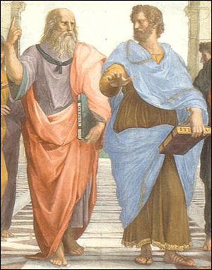 20120221 Plato And Aristotle In The School Of Athens By Rafael Raphaels Vision Greek Clothing Trousers Shirts Were