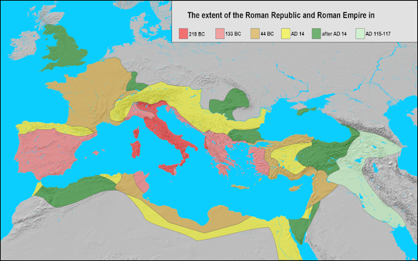 GEOGRAPHY WEATHER ANIMALS POLLUTION AND NATURE IN ANCIENT ROME - Map of ancient rome po river