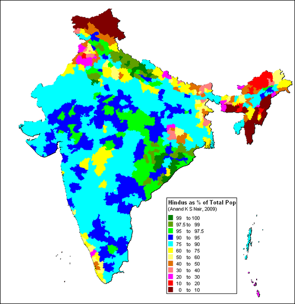 HINDUISM ITS HISTORY AND RELIGION INDIA Facts And Details - India religion map