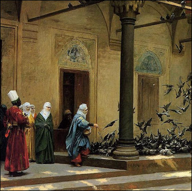 20120510-Harem Women Feeding Pigeons in a Courtyard Gerome.jpg